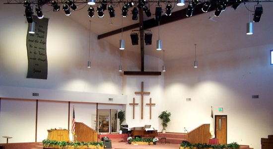 Church Theatrical Lighting<br> Stylus AV Technologies, Bluffton, Indiana