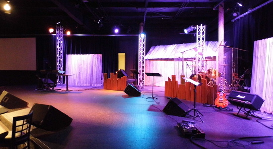 The Bridge Community Church : Lighting & Speakers Setup <br> Stylus Technologies, Bluffton, Indiana